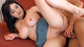 Overweight big titted babe picks up it..