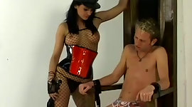 This most hot domina persuades her..