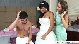 Sexy bridesmaid Alexis Adams takes..