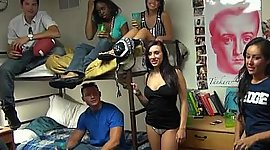 College students having thrill