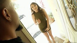 Charming young woman Adria Rae obtains..