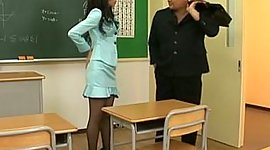 Japanese hotty in stockings