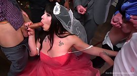 Meaty bride Siouxsie Q is hammered by..
