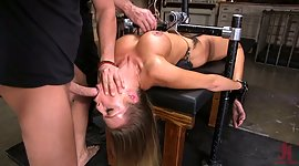 Tied up damsel Britney Amber is face..