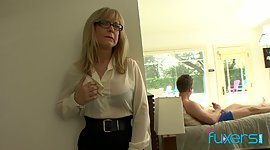 Ripened fake tittied stepmom observed..