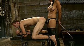 Beau and her male slave to fuck