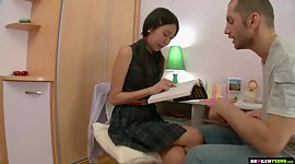 Shy Asian student Alevtina is fucked..