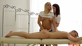 Little masseuse Jessi Gold and her..