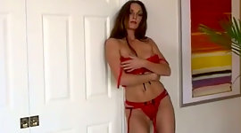 Severe chick digs fingers in red..