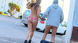 Russian babe come by drilled public