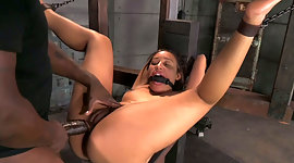 Gagged and tied up exotic lady Tinslee..