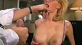 Office beauty earns her beaver and..